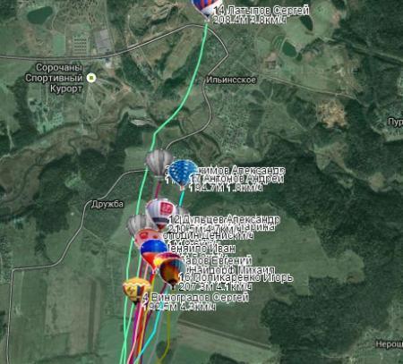 Дмитров. Онлайн трансляция полетов