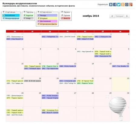 Календарь воздухоплавателя